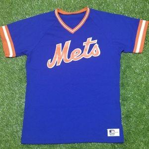 Vintage 80s New York Mets Sand-Knit Jersey